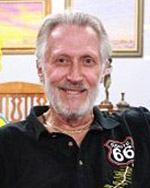 head shot of bob lile wearing a black route 66 polo shirt