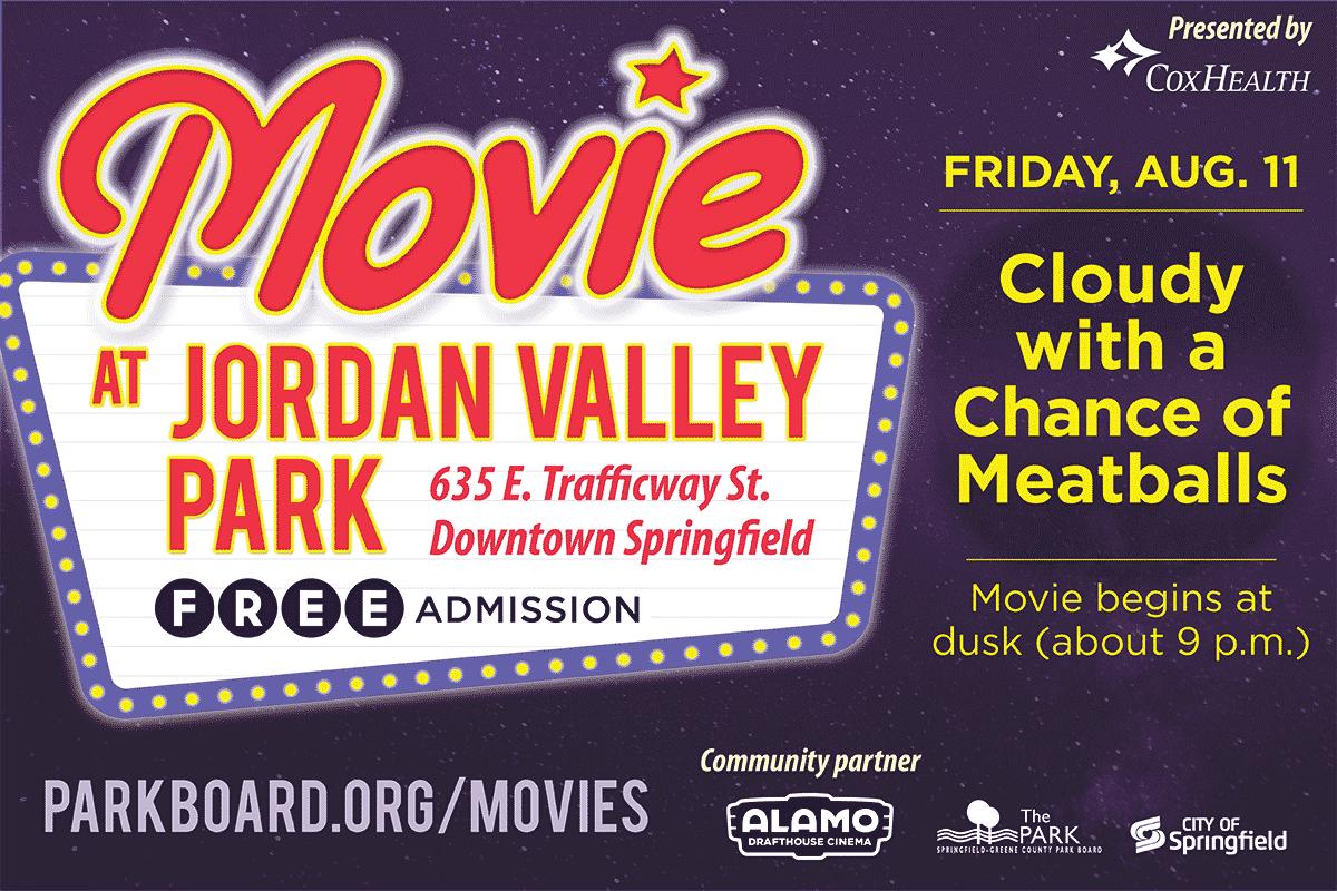 movie at jordan valley park, free admission