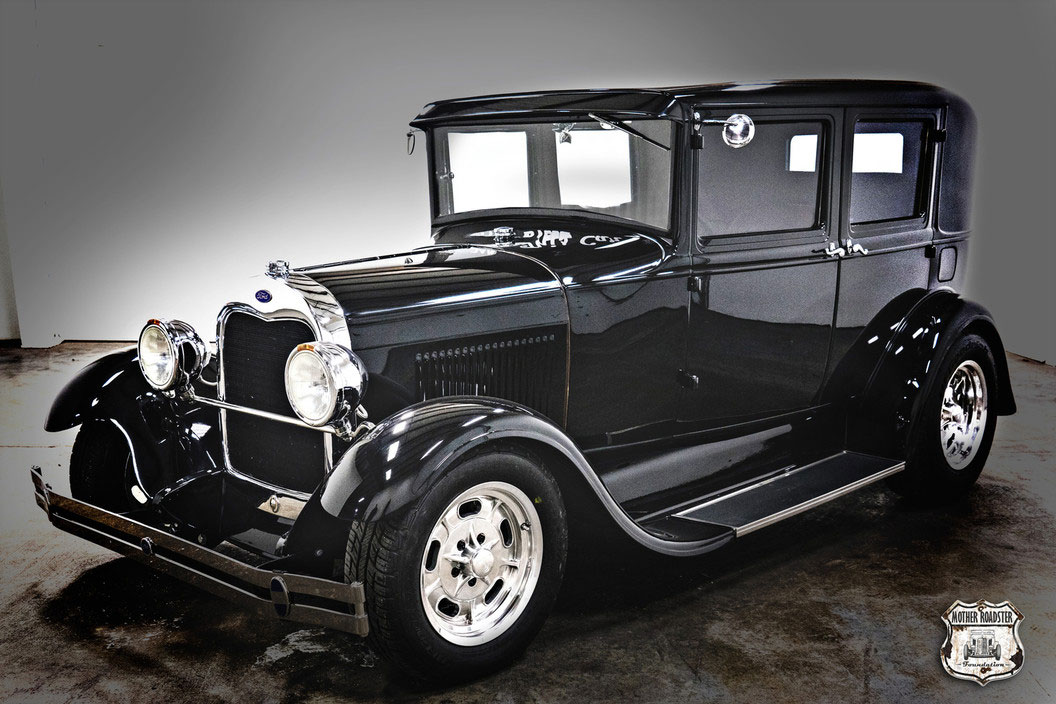 black 1929 ford model a hot rod